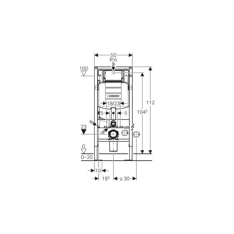 duofix sigma up320 autoportant pour wc suspendus geberit. Black Bedroom Furniture Sets. Home Design Ideas